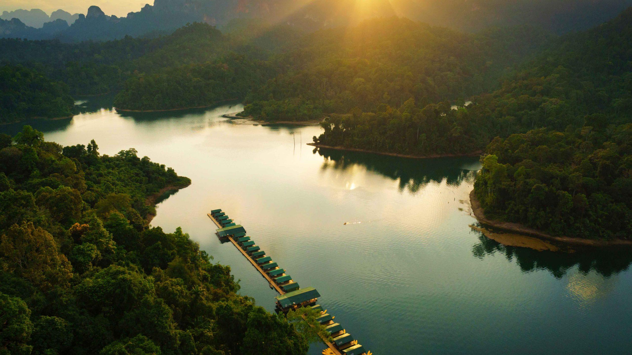 Elephant Hills Luxury Tented floating Rainforest Camp Cheow Larn Lake Khao Sok National Park Thailand